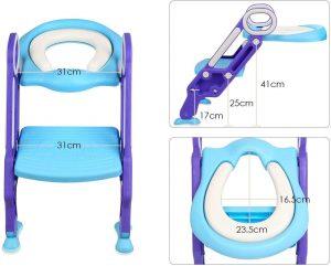 BAMNY Siège de Toilette Enfant Pliable et Réglable